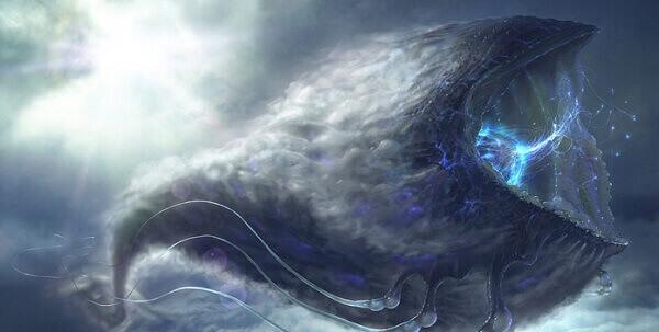 تصویر گرافیکی و خیالی از گونه ای از موجودات فضایی