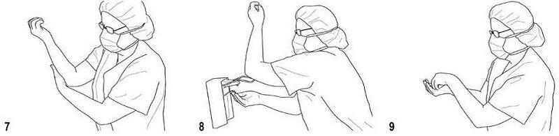 ضد عفونی دست برای عمل جراحی